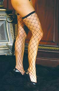 Fishnet Stockings: Elegant Moments Big diamond net thigh hi with lace top (size 27Kb)