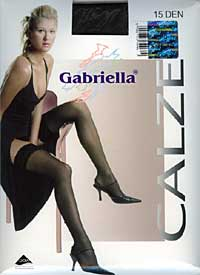 Sheer Stockings: Gabriella Calze 15 Den Stay Up (size 26Kb)