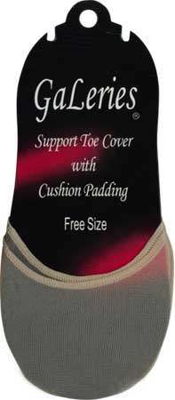 Footcovers: GaLeries Support Toe Cover with Cushion Padding (size 33Kb)