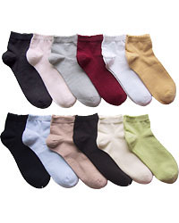 Ankle Highs: Propeds Ankle Cotton Socks with Scallop Top (size 62Kb)